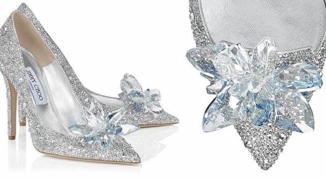 Jimmy Choo Cinderella Slipper : La véritable pantoufle en verre de Cendrillon