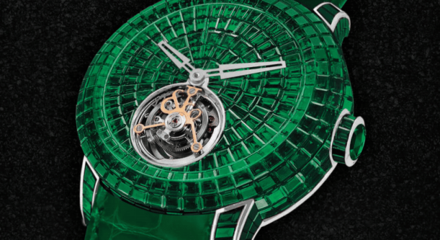 Jacob & Co Caviar Emerald Tourbillon : Une montre d'émeraudes exceptionelle