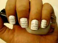 Newspaper Nails | Luxe Eleven