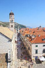 Stradun, Dubrovnik's main street as seen from the city walls