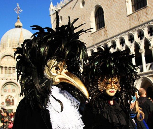 The Plague Doctor Venice Carnival Mask Had A Beak Like A Bird