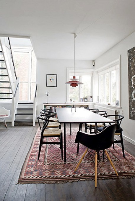 kilim-dining-table-mid-century-modern-chairs