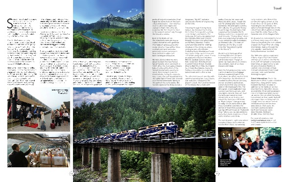 The Rocky Mountaineer: A Train to the Sublime by Lillian Africano
