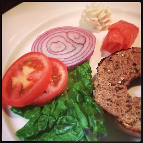 Lox & Bagel breakfast starter