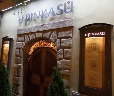 U Pinkasu (Prague) restaurant serves traditional Czech food with draft Pilsner beer. Photo Kissam