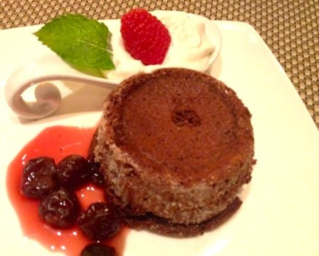 Black Forest molten cake for only 210 cals!