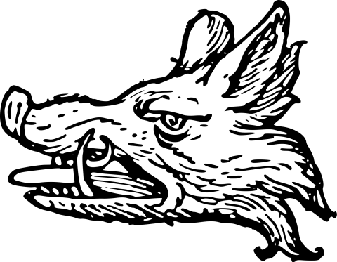 Scottish Healdry image of a Wild Boar's head - from Wiki Commons