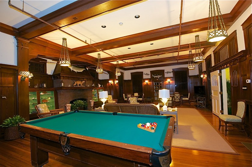 The man cave goes upscale in the Inn's Pelican Room.