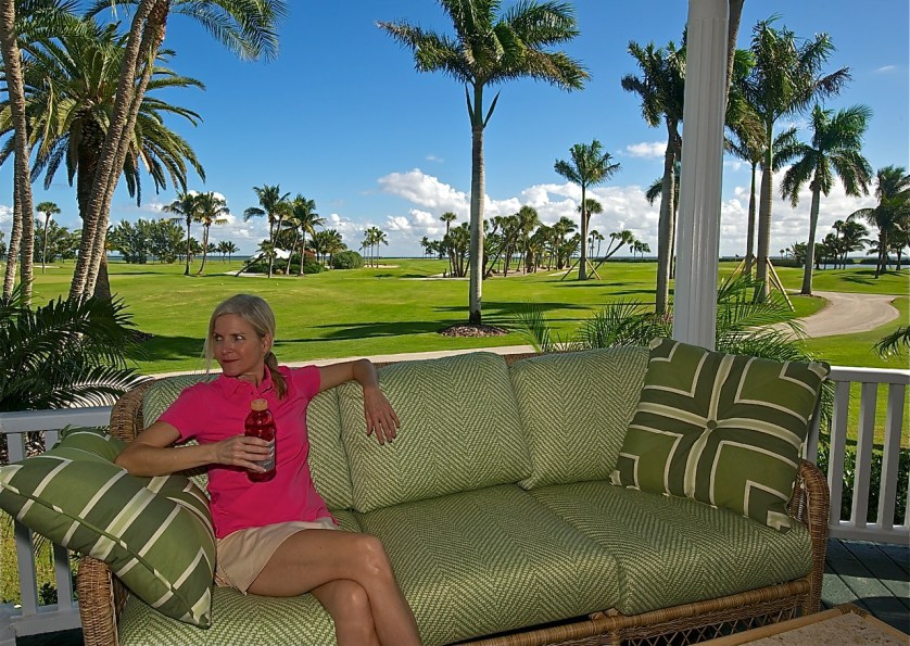 Cool drinks and the perfect view await thirsty golfers at the Inn's golf  & croquet club.
