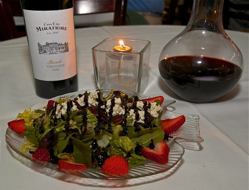 Strawberry salad takes on a whole new meaning after one bite of this fan favorite at the Temptation Restaurant.