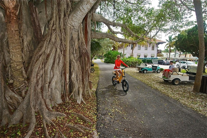 Best way to see the sights of this stellar island community? Electric bike, but of course.