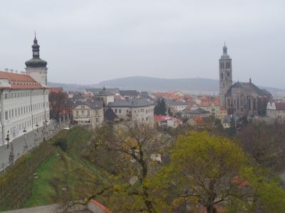 View from a gargoyles perch on St. Barbara's Church, Kutna Hora - Photo Kissam
