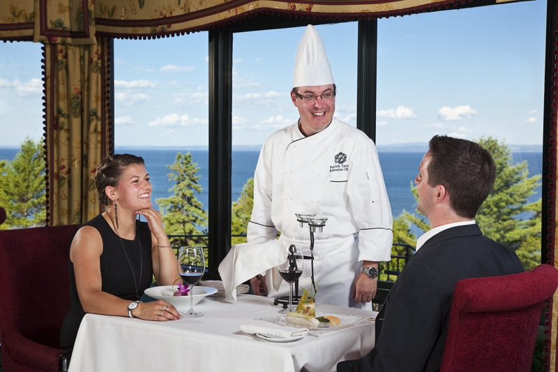 Executive Chef Patrick Turcot and two guests