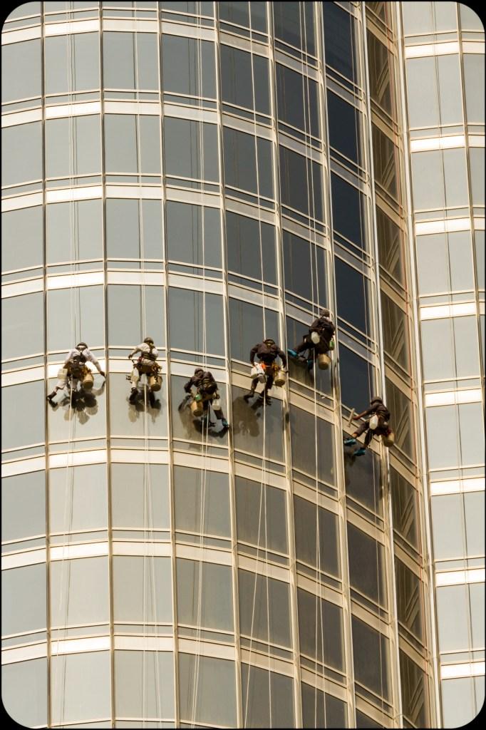 Window Washers at Burg Khalifa