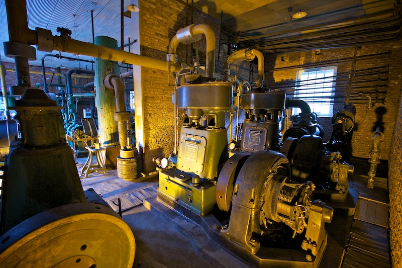 The heart of the Victorian engine room sits silent today