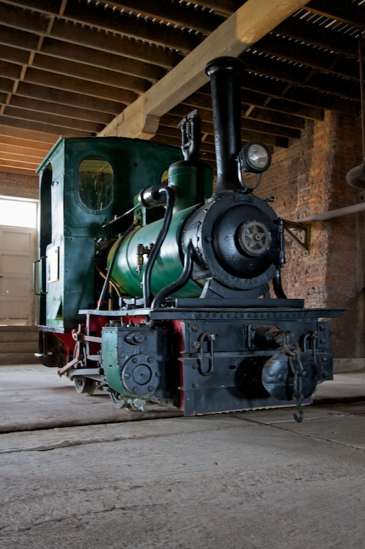 One of the steam locomotives purchased in 1915 to load and unload ships