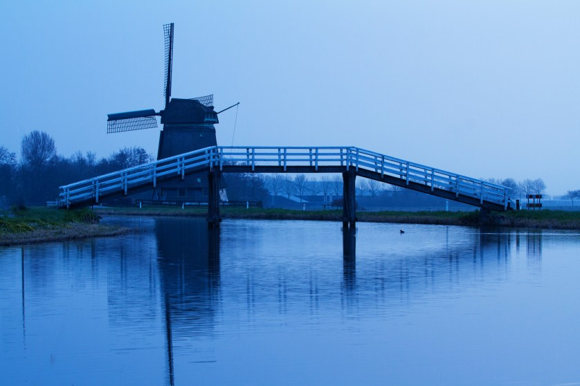 Windmill in Blue