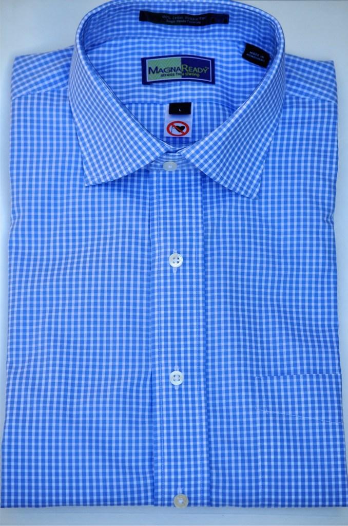 Gingham Blue Shirt Photo Courtesy of MagnaReady®