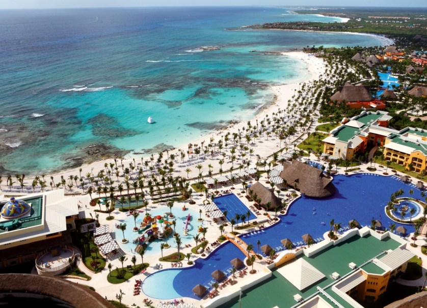 Arial View of Barcelo Maya Beach Resort  (Photo courtesy Barcelo Maya Beach Resort)