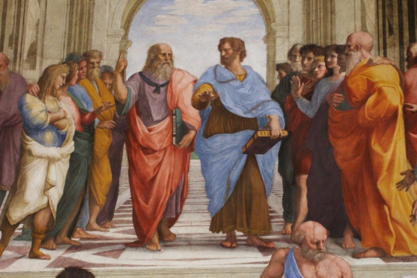 School of Athens by Raphael, Plato (left) Aristotle (right)