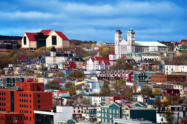 St. John's in all its colorful splendour
