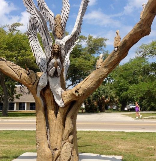 Angel tree by 200 North Beach