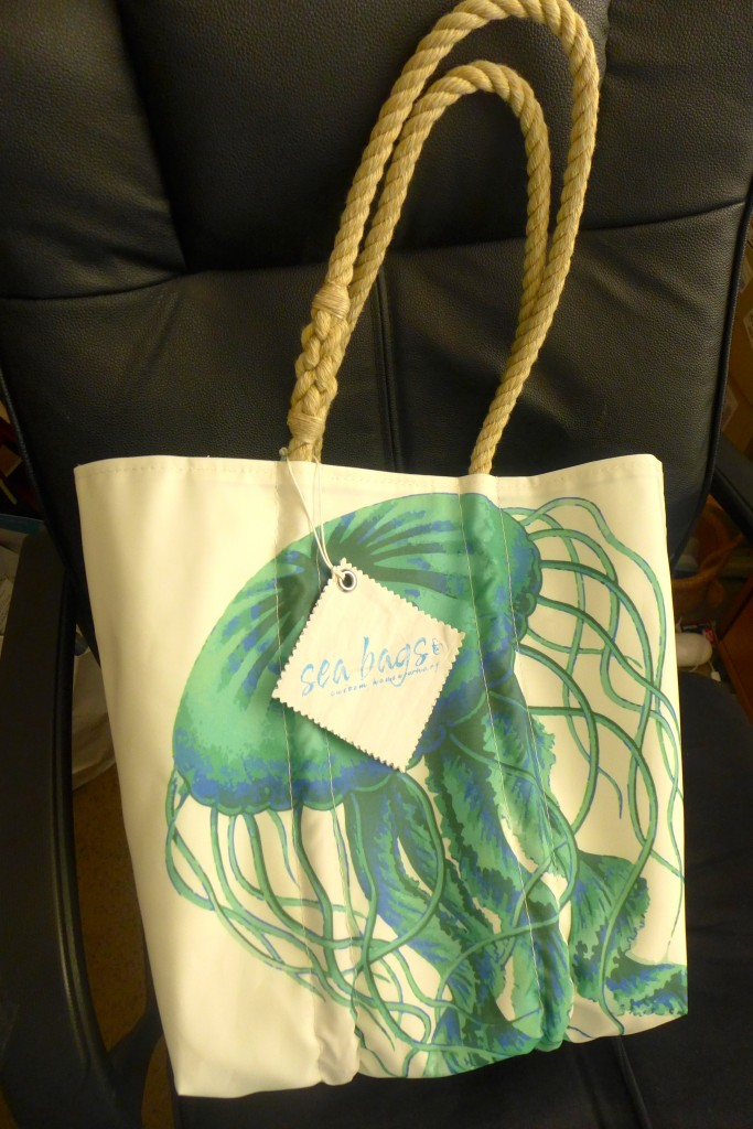 Silk Screened Sea Bag