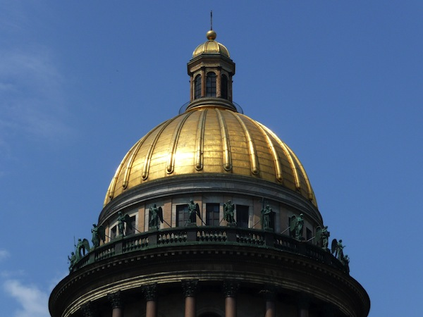 Golden dome of St. Issac's Cathedral