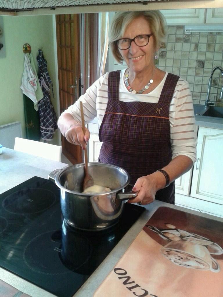 Lucette Vaudey serves the perfect Calf Head delicacy.