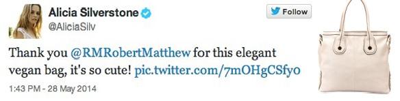 Alicia Silverston tweet Robert Matthew