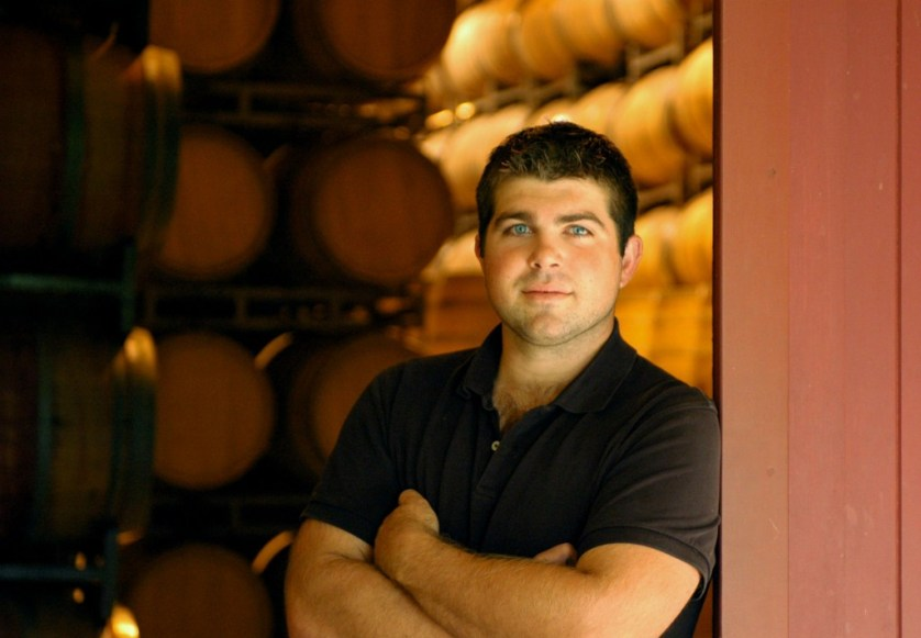 Joseph Wagner in Mieomi Wine barrel room
