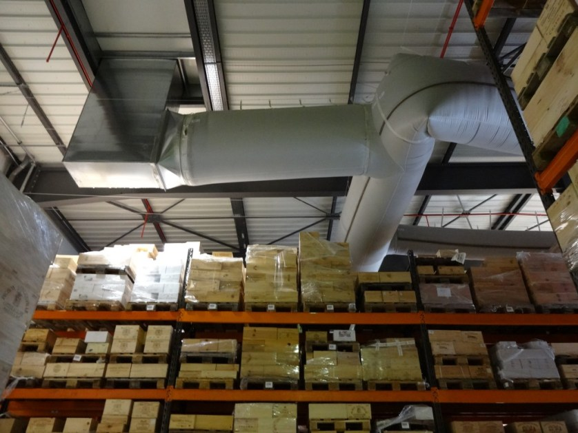 Temperature controlled warehouse
