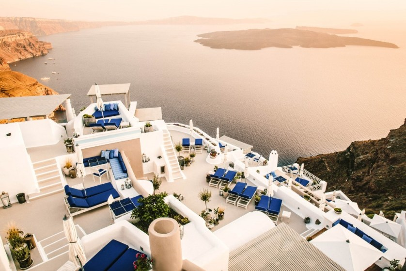 Elevated Property - Afternoon Courtesy of Iconic Santorini