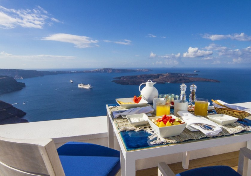 Terrace Breakfast Courtesy of Iconic Santorini