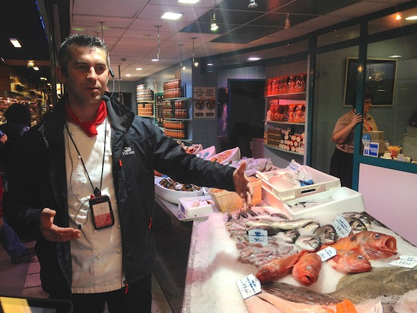 Touring Les Halles Bocuse with Chef Jevgeni