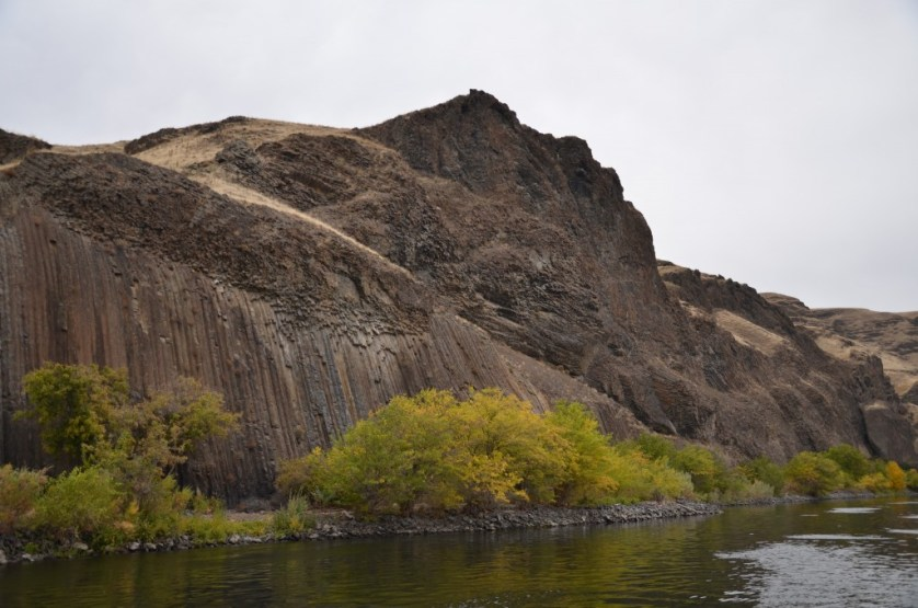 Basalt formations in Hell's Canyon.