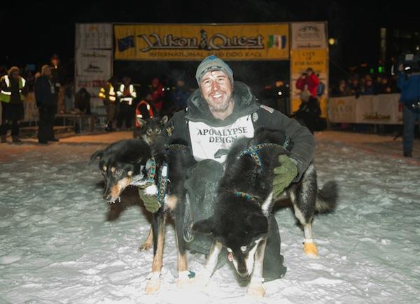 Brett Sass Wins!  Credit: Yukon Quest-Pat Kane