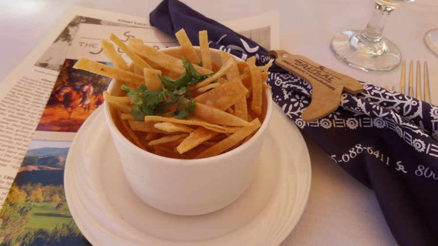 Tortilla soup trademark dish at River Terrace on Alisal Road.