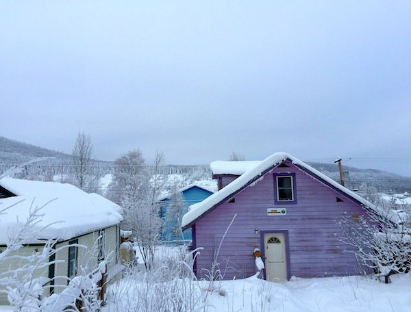 Crazy house colors in Dawson City
