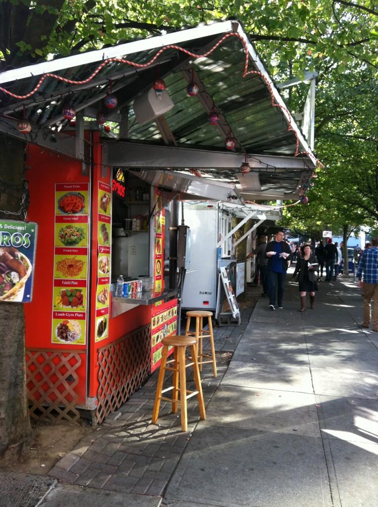 Just a few of the Portland Food Carts.