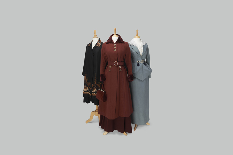 Outfits worn by sisters Mary, Edith and Sybil