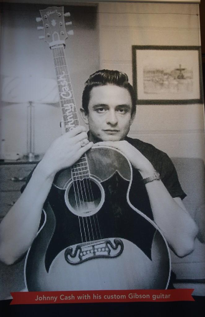Cash's custom Gibson guitar