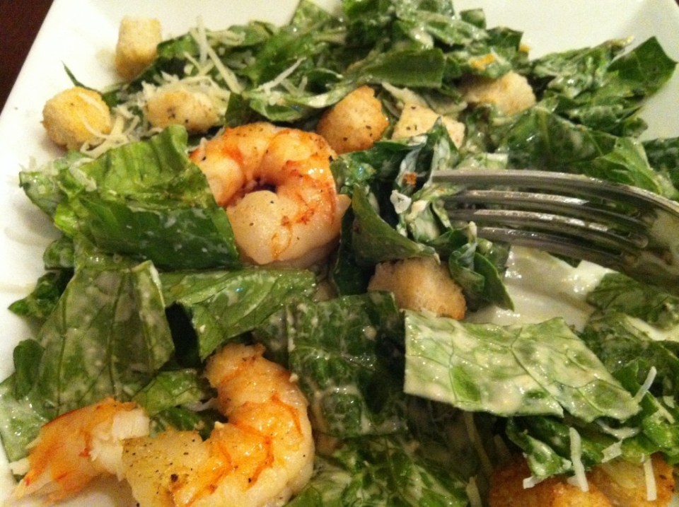 Yummy grilled shrimp salad