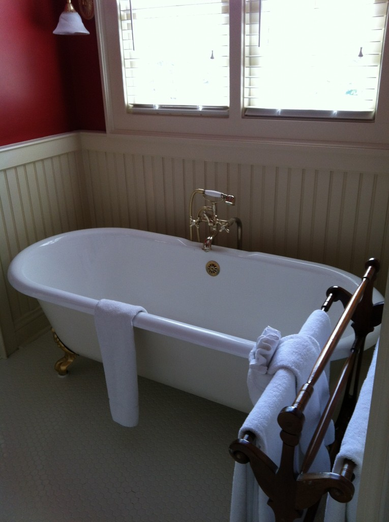 Fabulous soaking tub.