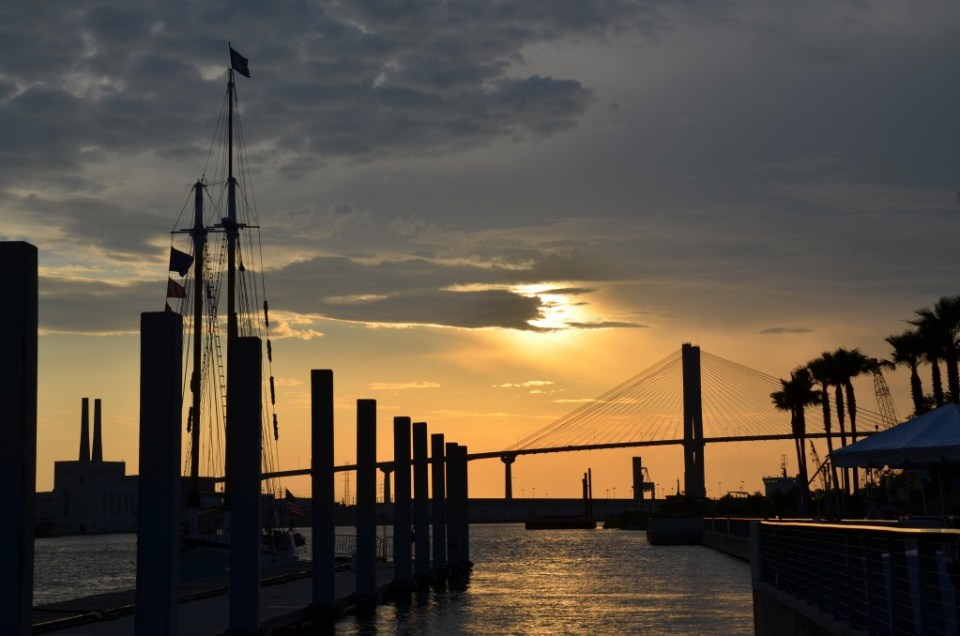 Sunset on the Savannah River.