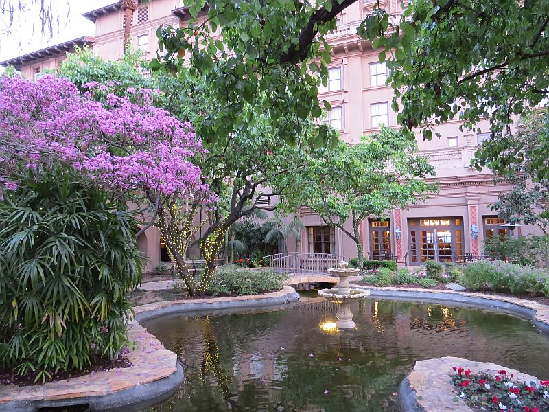 Courtyard off Lobby at The Langham Huntington, Pasadena