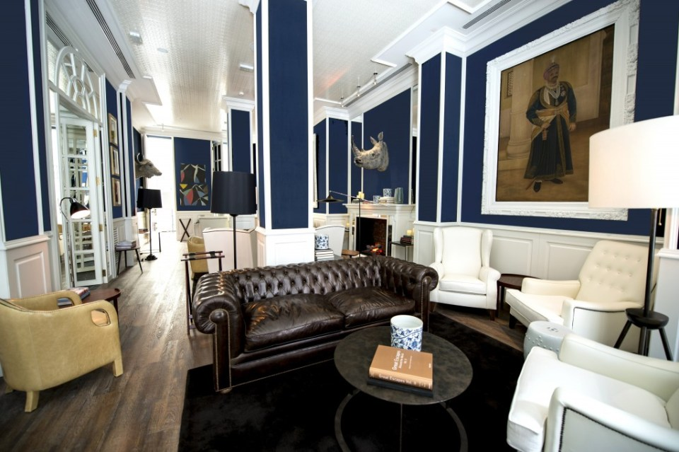 The Blue Lounge is known for its English-style decor and comfort.