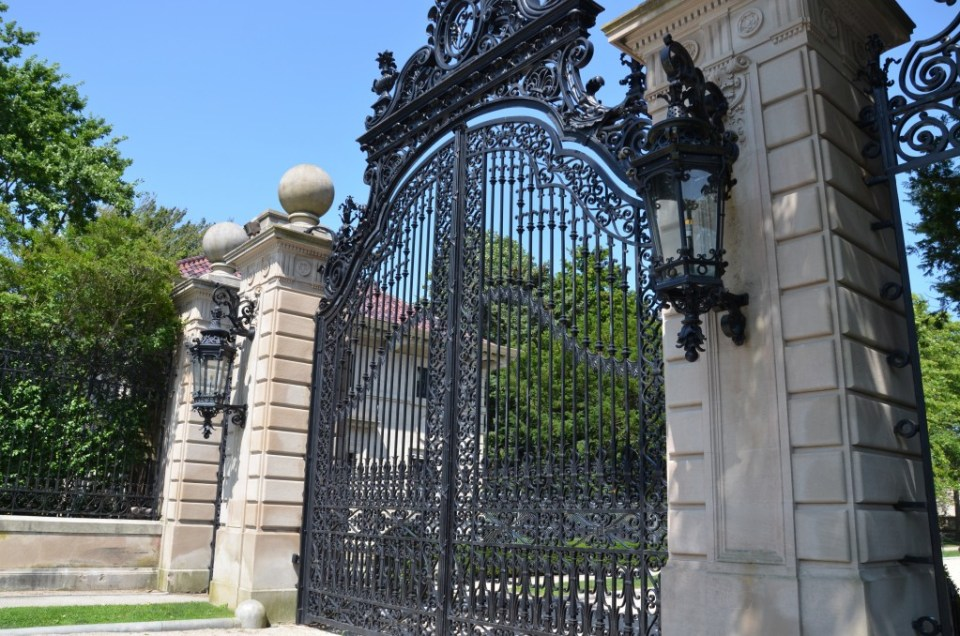 Gates to The Breakers.