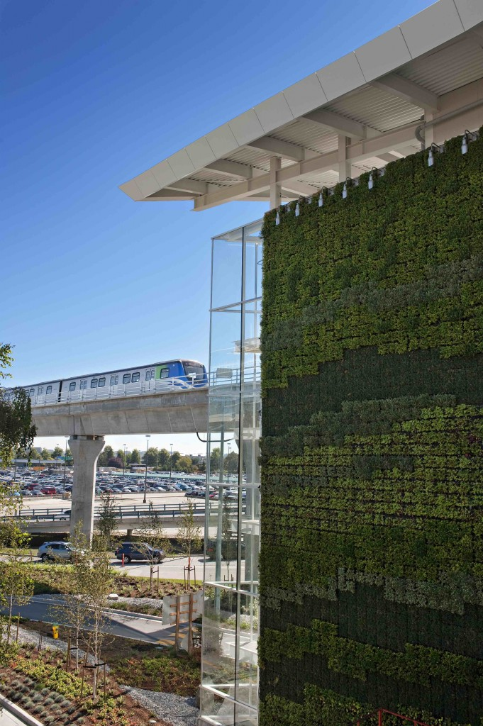 Green Wall by Larry Goldstein for Vancouver Airport Authority