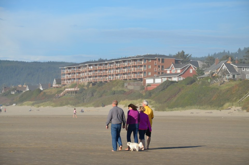 View of Hallmark Resort from the beach